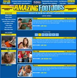 Read Amazing Footjobs review
