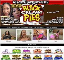 Black Creamy Pies members area previews