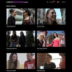 Czech First Video members area previews