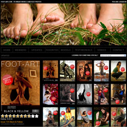 Foot Art members area previews