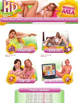 HD Teens Video members area previews
