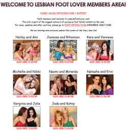 Lesbian Foot Lover members area previews