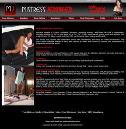 Mistress Jennifer members area previews