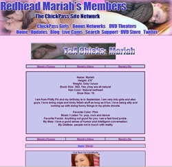 Redhead Mariah members area previews
