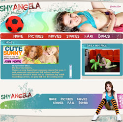 Shy Angela members area previews