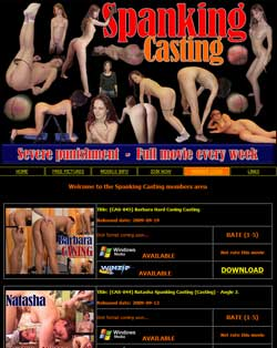 Spanking Casting members area previews