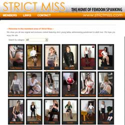 Strict Miss members area previews