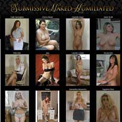 Submissive Naked Humiliated members area previews